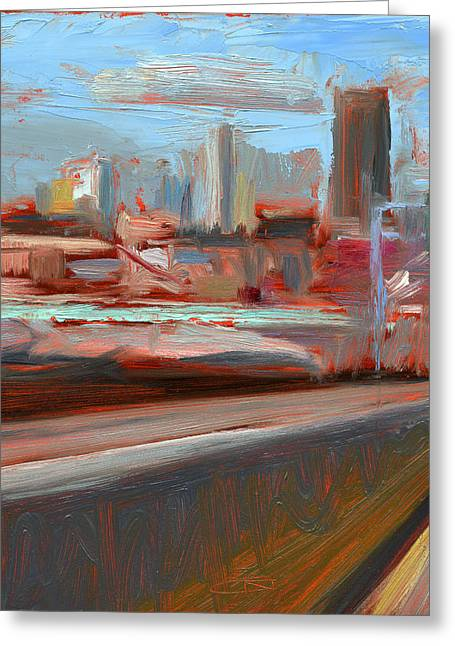 Dine Greeting Cards - RCNpaintings.com Greeting Card by Chris N Rohrbach