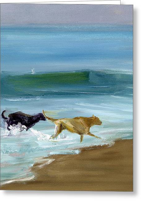 Yellow Dog Paintings Greeting Cards - RCNpaintings.com Greeting Card by Chris N Rohrbach