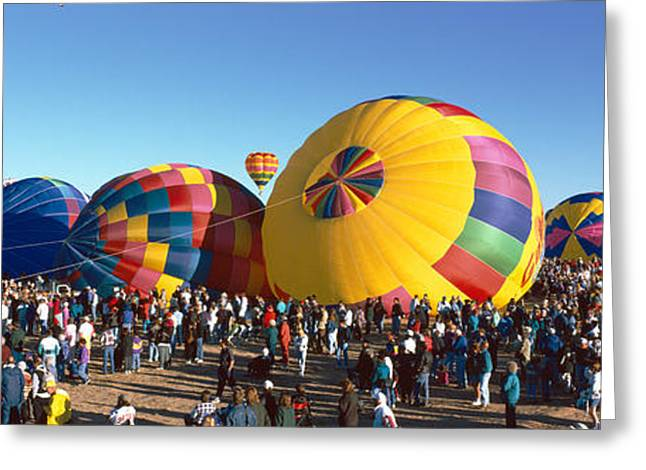 Pastimes Greeting Cards - 25th Albuquerque International Balloon Greeting Card by Panoramic Images