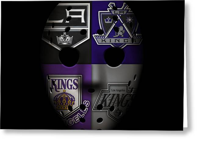 Goalie Greeting Cards - Los Angeles Kings Greeting Card by Joe Hamilton