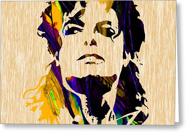 Michael Jackson Greeting Card by Marvin Blaine