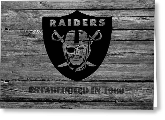 Goals Greeting Cards - Oakland Raiders Greeting Card by Joe Hamilton