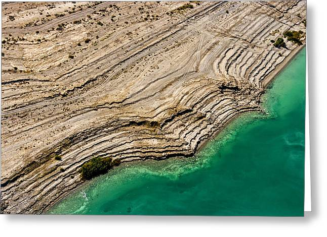 Sea Of Salt Greeting Cards - Observation Of Dead Sea Water Level Greeting Card by Ofir Ben Tov
