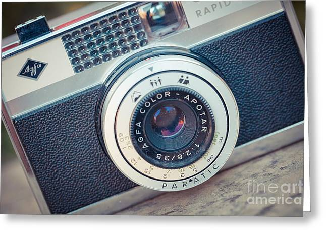 Aperture Greeting Cards - Old vintage camera Greeting Card by Sabino Parente