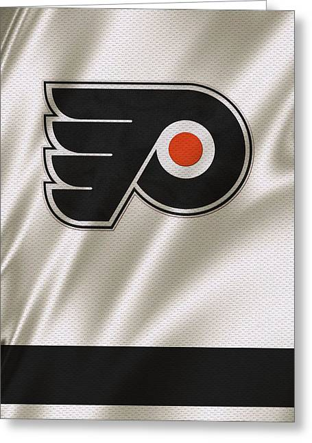 Flyer Greeting Cards - Philadelphia Flyers Greeting Card by Joe Hamilton