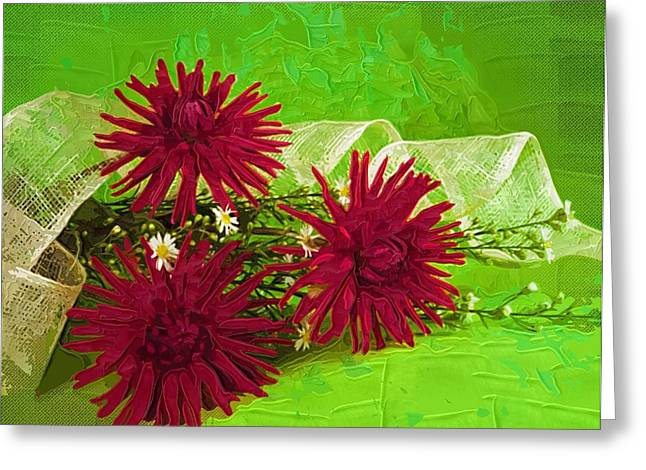 Print Greeting Cards - Posters Flowers Greeting Card by Victor Gladkiy