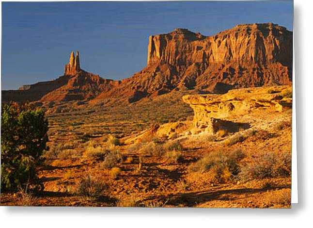 The Natural World Greeting Cards - Rock Formations On A Landscape Greeting Card by Panoramic Images