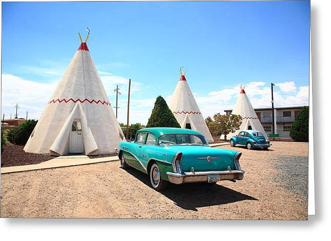 Bug Framed Prints Greeting Cards - Route 66 Wigwam Motel Greeting Card by Frank Romeo