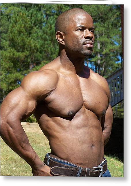 Stock Muscle Photos Greeting Cards - The Art of Muscle  Greeting Card by Jake Hartz