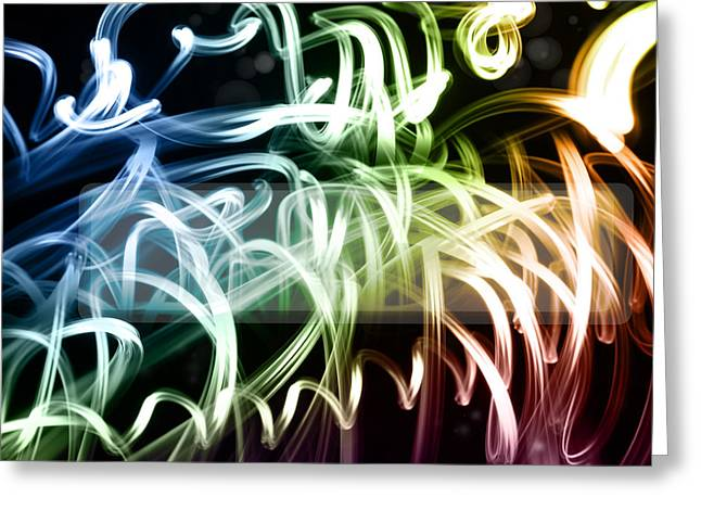 Flash Greeting Cards - Abstract background Greeting Card by Les Cunliffe