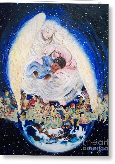 African Angel Greeting Cards - 260  Earth Angel Greeting Card by Sigrid Tune