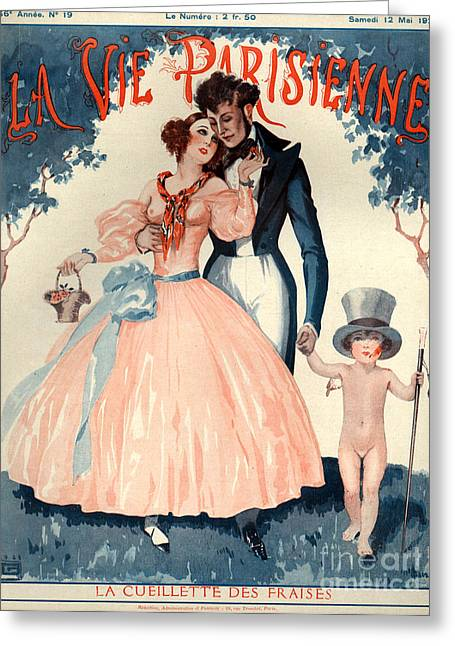 Georges Leonnec Greeting Cards - 1920s France La Vie Parisienne Magazine Greeting Card by The Advertising Archives