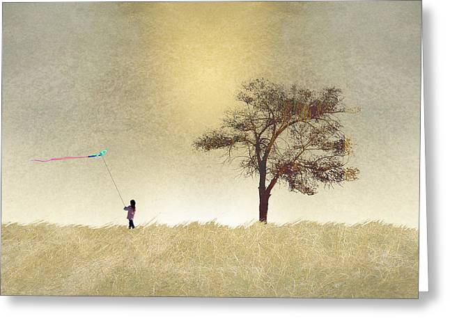 Kite Greeting Cards - 2687 Greeting Card by Peter Holme III