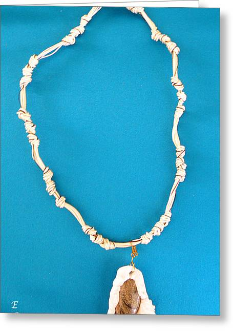 White Jewelry Greeting Cards - Aphrodite Gamelioi Necklace Greeting Card by Augusta Stylianou