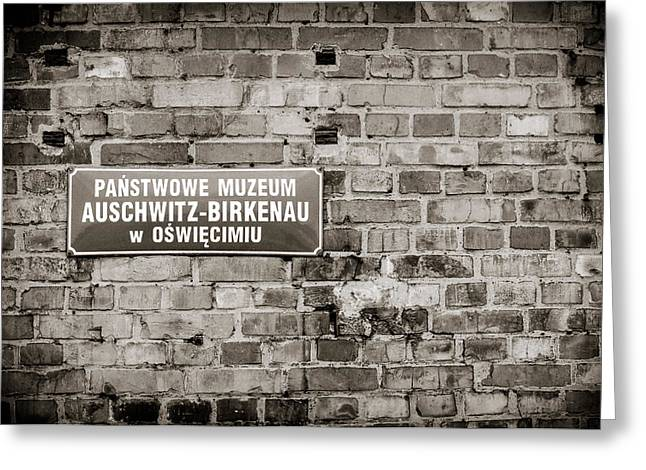 Wwii Greeting Cards - Auschwitz Greeting Card by Mihai Ilie