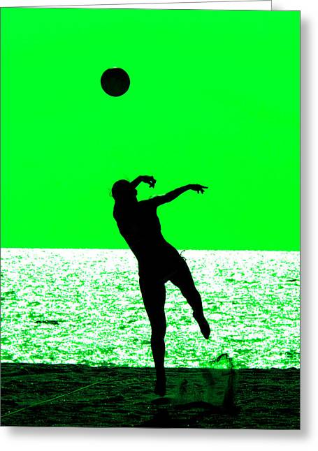 Women Only Greeting Cards - Beach volleyball Greeting Card by Celso Diniz