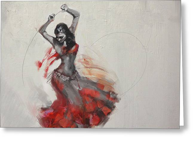 Dancer Art Greeting Cards - Belly Dancer 3 Greeting Card by Corporate Art Task Force