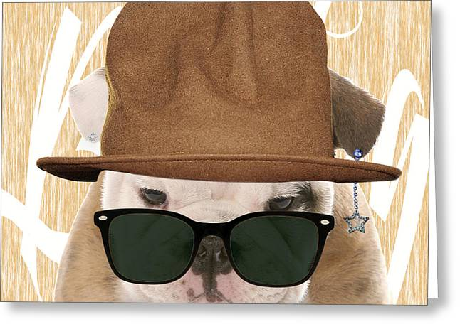 Recently Sold -  - Pop Mixed Media Greeting Cards - Bulldog Collection Greeting Card by Marvin Blaine