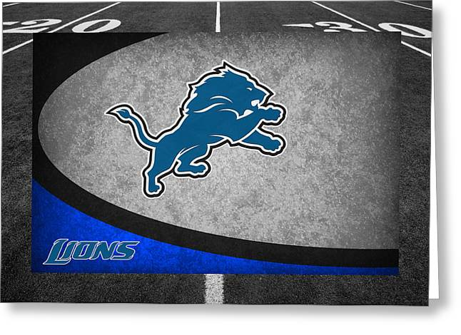 Lions Greeting Cards - Detroit Lions Greeting Card by Joe Hamilton