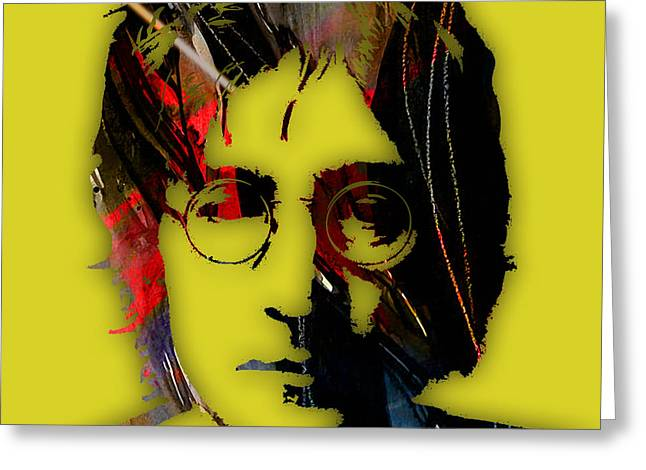 Recently Sold -  - Pop Mixed Media Greeting Cards - John Lennon Collection Greeting Card by Marvin Blaine