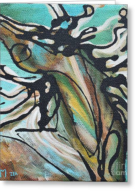 Gallery Wrap Paintings Greeting Cards - 27 Greeting Card by Jonelle T McCoy