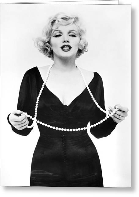 Starlet Greeting Cards - Marilyn Monroe (1926-1962) Greeting Card by Granger