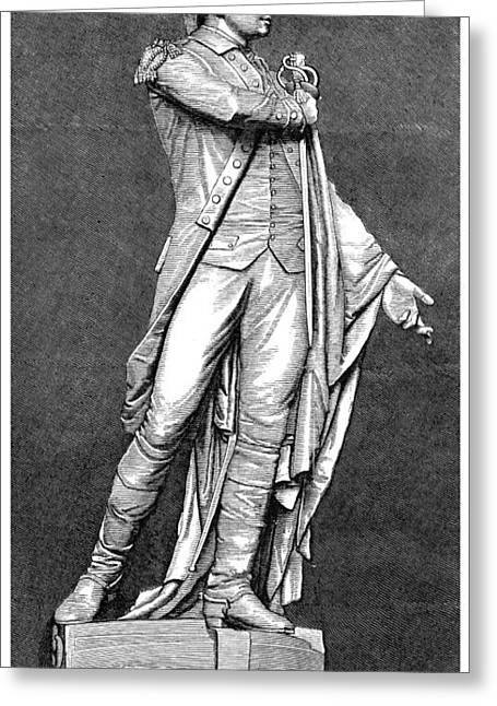 Statue Portrait Photographs Greeting Cards - MARQUIS de LAFAYETTE Greeting Card by Granger
