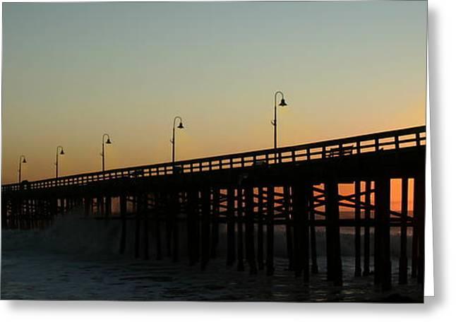 Ventura California Greeting Cards - Ocean Wave Storm Pier Greeting Card by Henrik Lehnerer