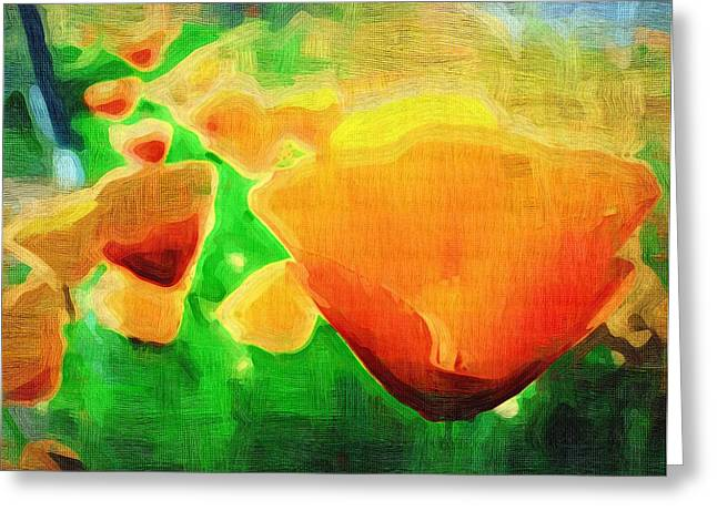 Close Up Paintings Greeting Cards - Posters Of Flowers Greeting Card by Victor Gladkiy