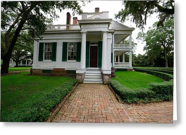 Historic Home Greeting Cards - Rosedown Plantation Greeting Card by Photo Advocate