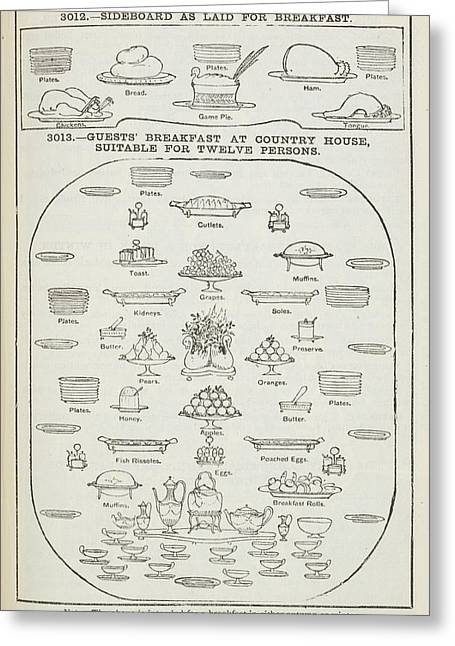 The Book Of Household Management Greeting Card by British Library