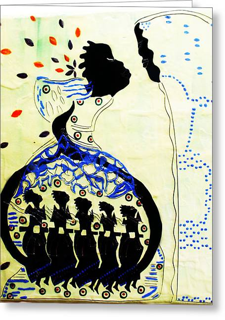 African Ceramics Greeting Cards - Wise Virgins Greeting Card by Gloria Ssali