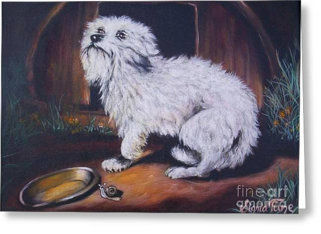 Doghouse Greeting Cards - 270    No Place Like Home Greeting Card by Sigrid Tune