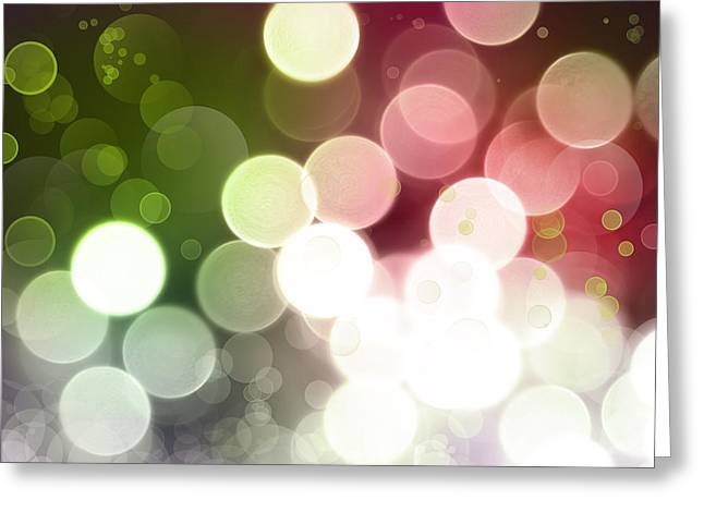 Glowing Greeting Cards - Abstract background Greeting Card by Les Cunliffe
