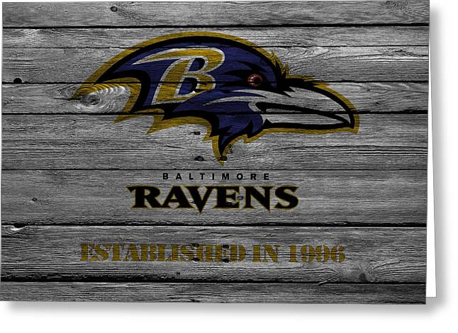 Offense Greeting Cards - Baltimore Ravens Greeting Card by Joe Hamilton