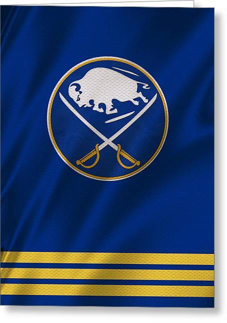 Buffalo Greeting Cards - Buffalo Sabres Greeting Card by Joe Hamilton