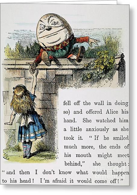 Humpty Dumpty Greeting Cards - Carroll: Looking Glass Greeting Card by Granger