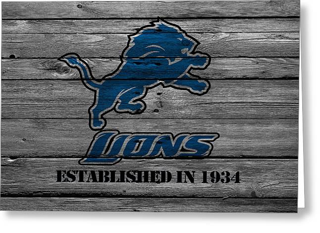 Lions Photographs Greeting Cards - Detroit Lions Greeting Card by Joe Hamilton