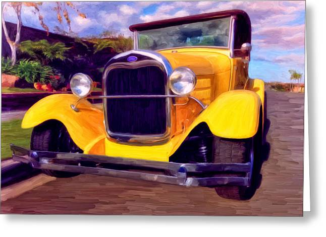 Restos Greeting Cards - 28 Ford Pick Up Greeting Card by Michael Pickett
