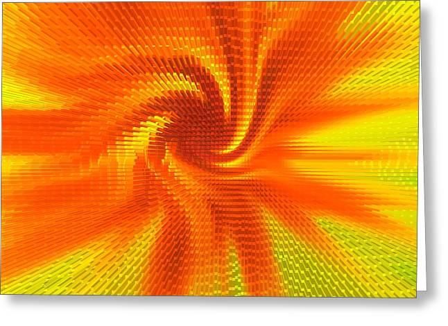 Geometric Effect Greeting Cards - Modern art Greeting Card by Gabi Siebenhuehner