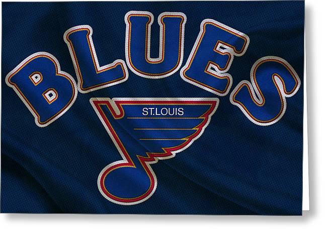 St Louis Blues Greeting Card by Joe Hamilton