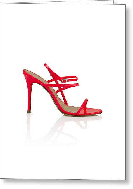 Open Toe Shoes Greeting Cards - Womens fashion shoes Greeting Card by Nikita Buida