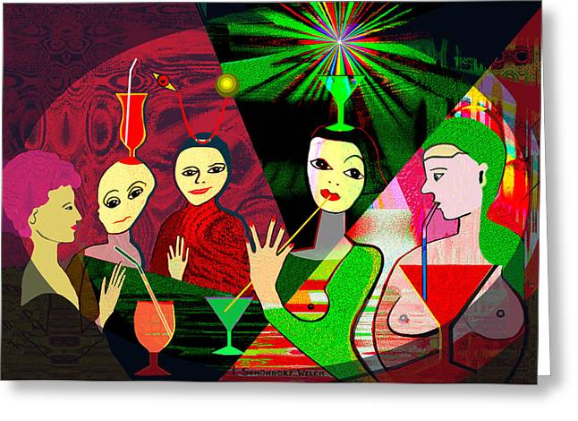 Glas Greeting Cards - 280 -  Wild Celebration   Greeting Card by Irmgard Schoendorf Welch