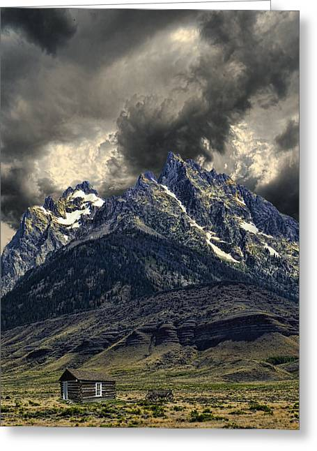 Mountain Cabin Greeting Cards - 2837 Greeting Card by Peter Holme III