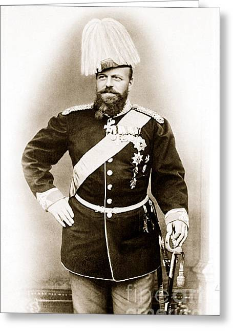 Tsar Alexander Greeting Cards - 287. Tsar Alexander III of Russia 1890 Print Greeting Card by Royal Portraits