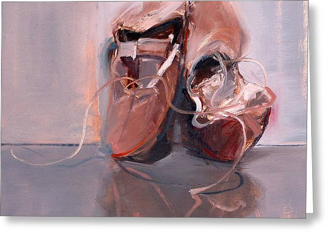 Ballet Slippers Greeting Cards - RCNpaintings.com Greeting Card by Chris N Rohrbach