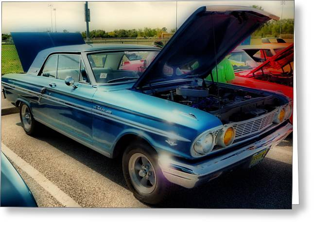 1963 Ford Greeting Cards - 289 Ford Fairlane 500 HDR Greeting Card by Thomas  MacPherson Jr