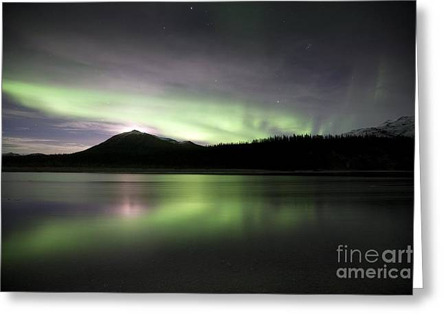 Reflecting Water Greeting Cards - Aurora Borealis Greeting Card by Chris Madeley