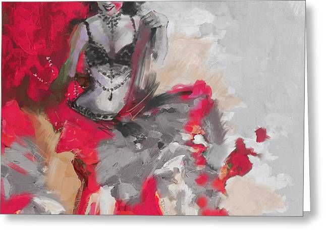 Belly Dancer Greeting Cards - Belly Dancer 1 Greeting Card by Corporate Art Task Force