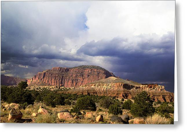 Beauty Mark Greeting Cards - Capitol Reef National  Park Cathedral Valley Greeting Card by Mark Smith
